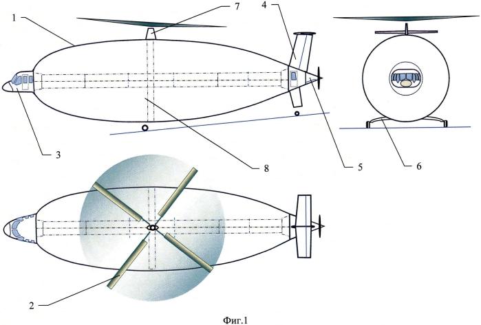 Устройство вертостата с одним или двумя несущими винтами
