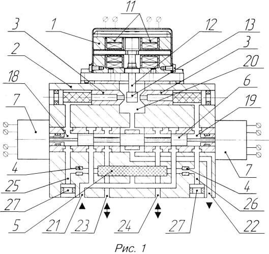 Двухканальный электрогидравлический усилитель мощности