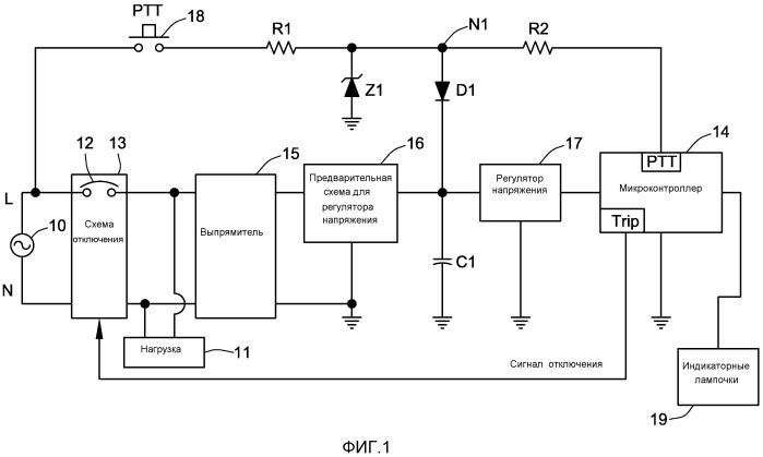 Автоматический выключатель с индикацией отказов и вторичным источником питания