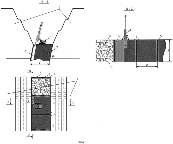 Способ разработки крутозалегающих угольных пластов и устройство для его реализации