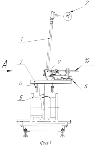 Станок переносной для притирки седловых уплотнительных поверхностей в корпусе задвижки