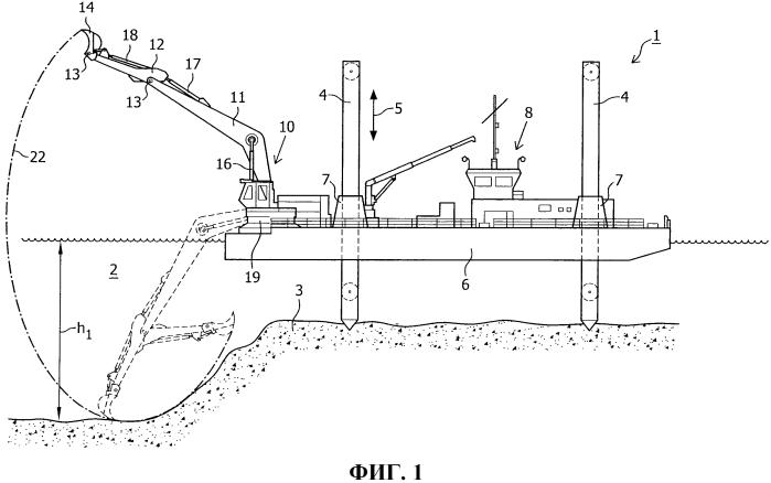 Устройство для выемки грунтового материала под водой
