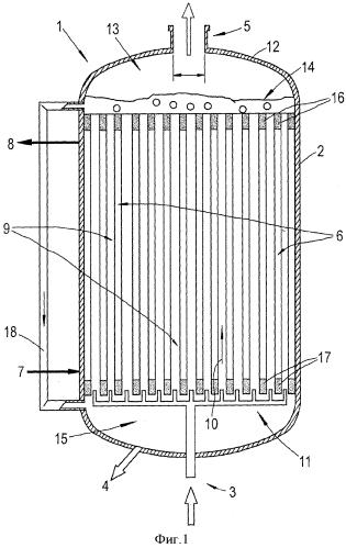 Реактор с системой распределения газа в нижней части