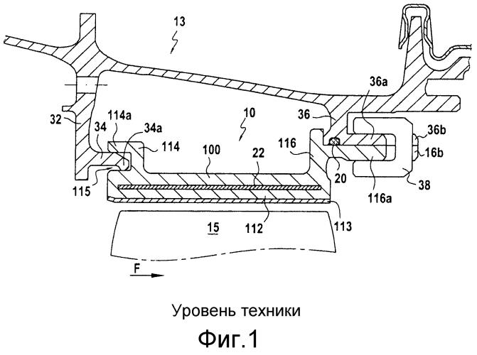 Волоконная заготовка для кольцевого сектора турбины и способ ее изготовления