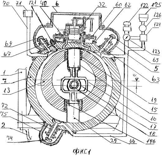 Эжекторно-дизельный двигатель роторно-лопастного типа