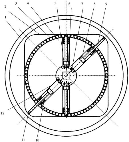 Бесшатунный, роторно-поршневой двигатель внутреннего сгорания (двс)