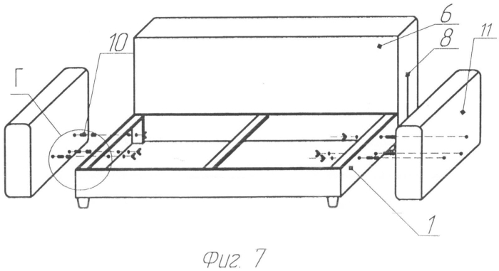Способ доставки изделия мягкой мебели и его сборки (2 варианта)