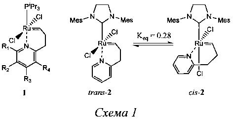 Каталитический комплекс для реакций метатезиса олефинов, способ его приготовления и его применение