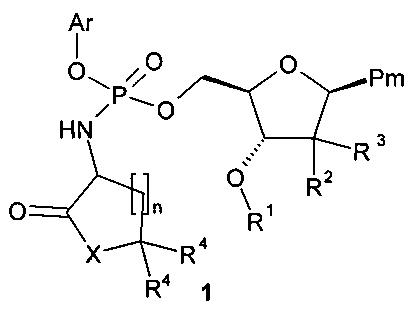 Замещенные (2r,3r,5r)-3-гидрокси-(5-пиримидин-1-ил)тетрагидрофуран-2-илметил арил фосфорамидаты