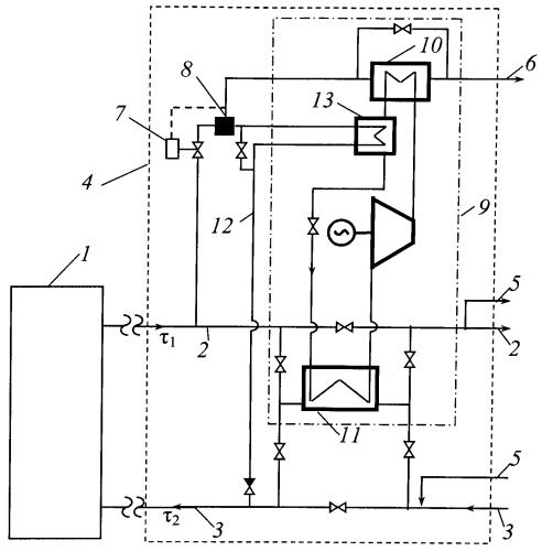 Способ работы открытой системы теплоносителя