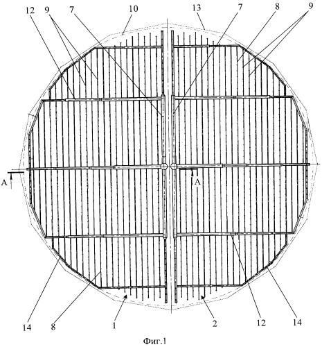 Водораспределительное устройство для башенной градирни бг-2100