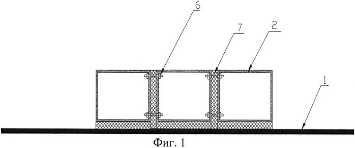 Устройство для изготовления панели с ребрами жесткости из полимерного композиционного материала