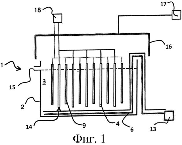 Система газовых труб для доставки газа, установка и способ электролитического выделения металла