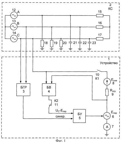 Устройство для измерения сопротивления изоляции сетей переменного тока