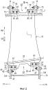 Крепежная конструкция направляющих лопастей и вентилятор
