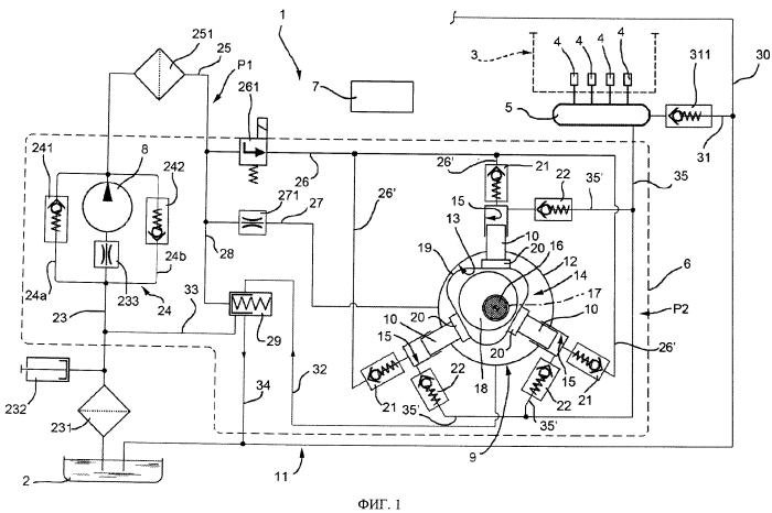 Система подачи топлива для двигателя внутреннего сгорания