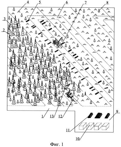 Способ выполнения лесосечных работ многооперационной лесозаготовительной машиной