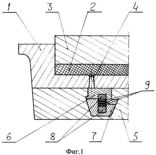 Формирующий блок пресс-формы для изготовления подвижного соединения