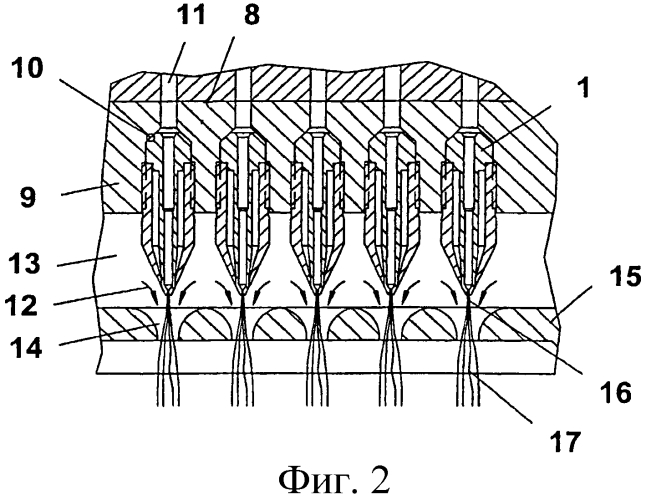 Фильера для формования нитей, формующее устройство для формования нитей и способ формования нитей