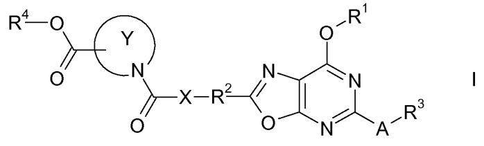 Производные гетероциклических карбоновых кислот, содержащие 2,5,7-замещенное оксазолопиримидиновое кольцо