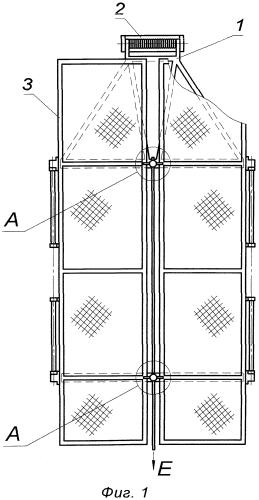 Устройство отделения и раскрытия створок батареи солнечной космического аппарата