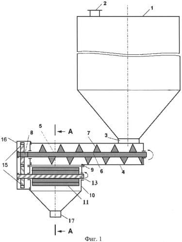 Бункер-питатель со шнековой выгрузкой и устройством измельчения