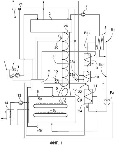 Способ и установка сушки тестообразной массы, в частности, осадка из очистной станции