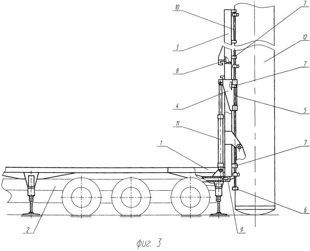 Пусковая установка для транспортирования и минометного старта ракеты из транспортно-пускового контейнера