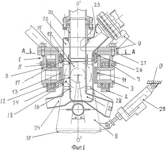 Устройство для восприятия тяги и протока двух компонентов топлива