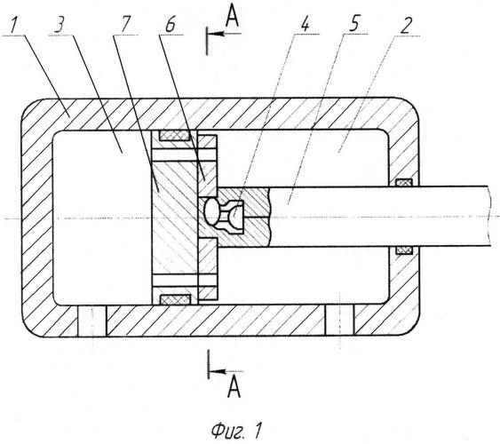 Гидроцилиндр с подвижной частью поршня
