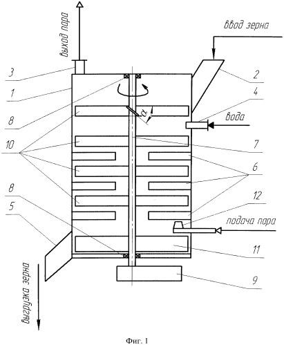 Способ гидротермической обработки зерна и пропариватель для гидротермической обработки зерна