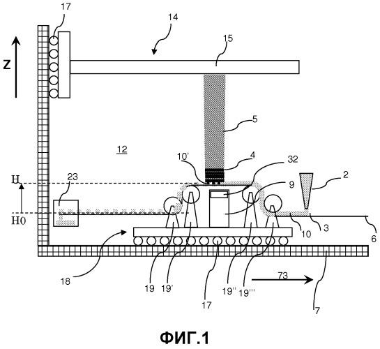 Способ и аппарат для послойного изготовления объемного объекта