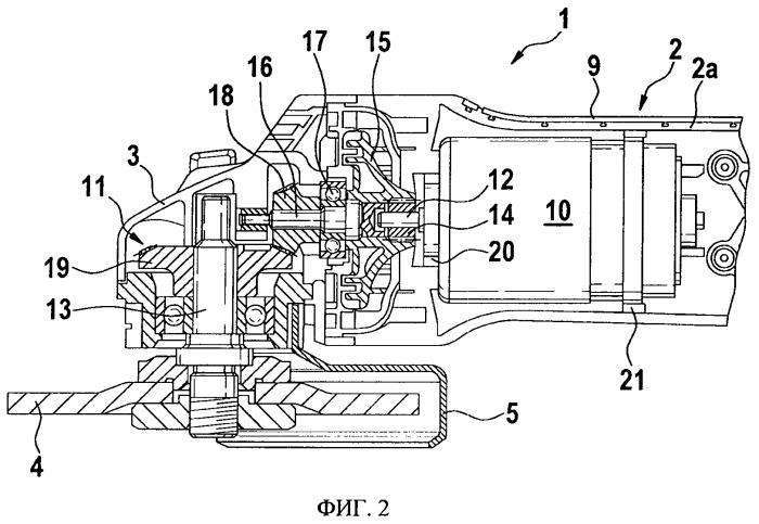 Ручная машина с приводным двигателем и передаточным механизмом