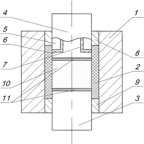 Устройство для получения изделий из композиционных порошков