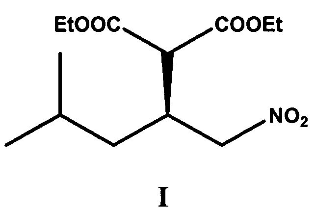 Способ энантиоселективного синтеза диэтил[3-метил-(1s)-(нитрометил)бутил]малоната формулы i