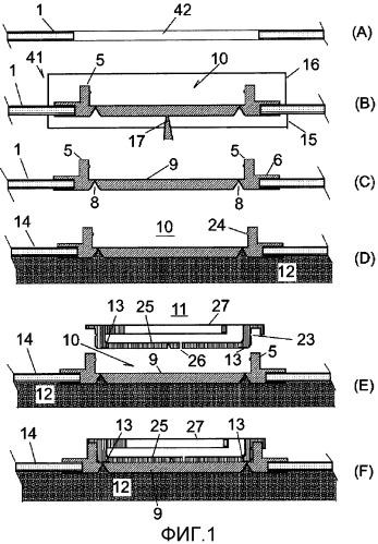 Способ производства упаковочной емкости, выливная крышка и упаковочная емкость