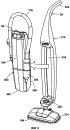 Вертикальная паровая швабра со вспомогательным ручным приспособлением