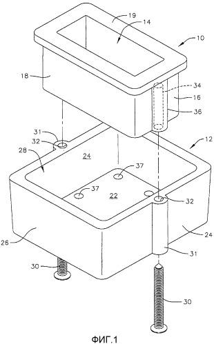 Вкладыш для отверстия подъемной крышки и коробка-накопитель для крышек коммунальных помещений и крышка коммунального помещения