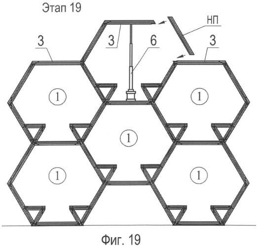 Способ создания ячеистой ярусной конструкции с посадочными местами для пользователей