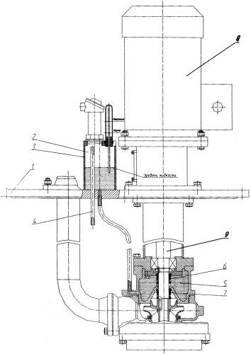 Насосный агрегат с устройством контроля герметичности двойного торцового уплотнения с перепускной трубкой