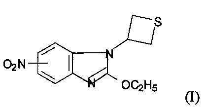 5(6)-нитро-1-(тиетанил-3)-2-этоксибензимидазол, ингибирующий перекисное окисление липидов