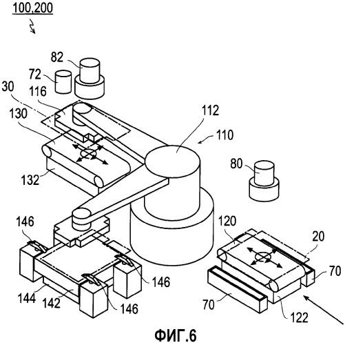 Укладывающее электроды стопкой устройство и способ укладывания электродов стопкой
