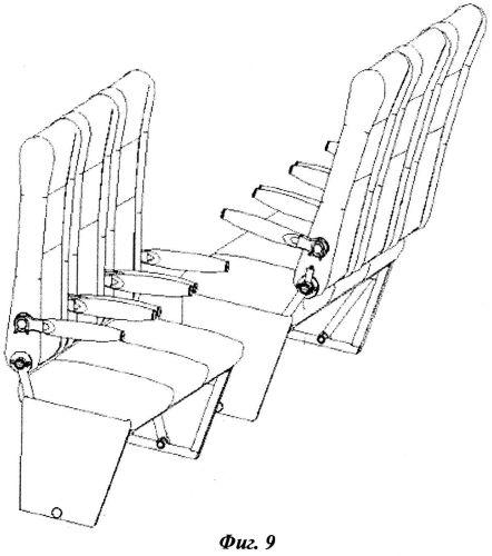 Блок пассажирских кресел