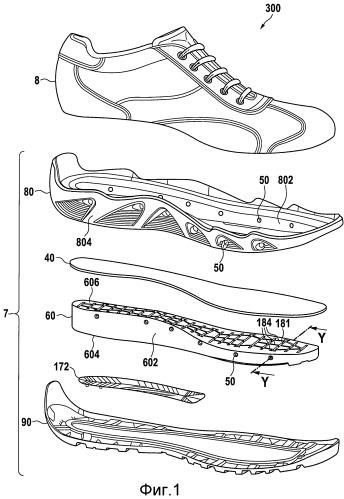 Водонепроницаемый, дышащий предмет обуви и способ производства предмета обуви