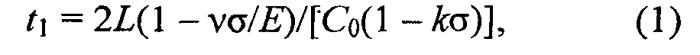 Способ определения коэффициента акустоупругой связи