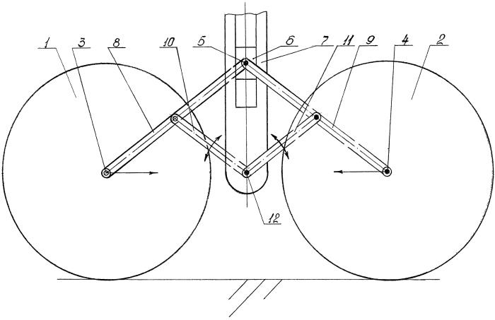 Способ конвертирования двухосной колёсной опоры в одноосную