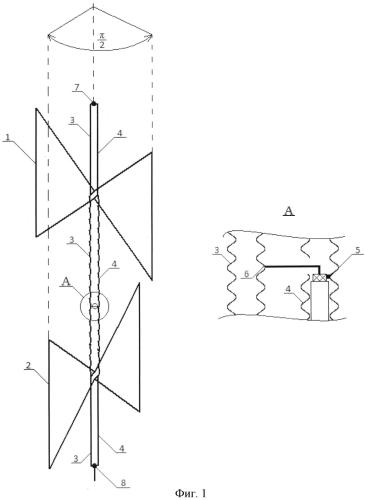 Комбинированная судовая квазиколлинеарная антенна автоматической идентификационной системы