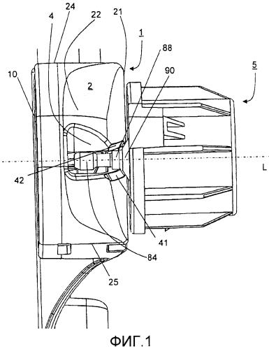 Удерживающий механизм в выдачном устройстве для удерживания сменного рулона материала, удерживающая система, выдачное устройство и способ вставки рулона материала в такой удерживающий механизм