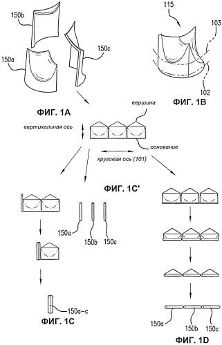 Вводимый через кожу самосборный модульный клапан и способы складывания, сборки и доставки