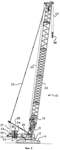 Подъемный кран с перемещаемым противовесом